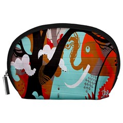 Colorful Graffiti In Amsterdam Accessory Pouches (large)  by Simbadda