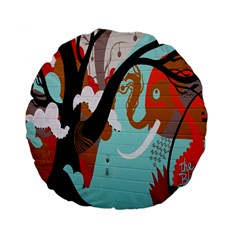 Colorful Graffiti In Amsterdam Standard 15  Premium Flano Round Cushions by Simbadda