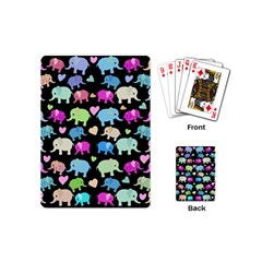 Cute Elephants  Playing Cards (mini)  by Valentinaart