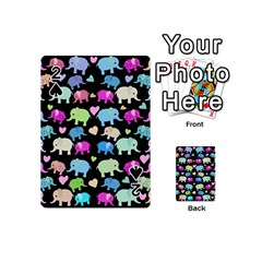 Cute Elephants  Playing Cards 54 (mini)  by Valentinaart