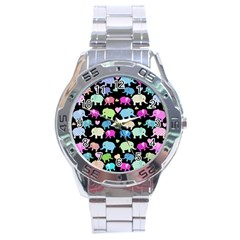 Cute Elephants  Stainless Steel Analogue Watch by Valentinaart