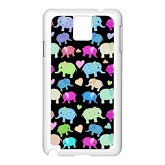 Cute Elephants  Samsung Galaxy Note 3 N9005 Case (white) by Valentinaart