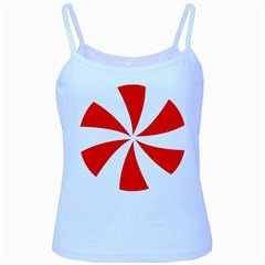 Candy Red White Peppermint Pinwheel Red White Baby Blue Spaghetti Tank by Alisyart