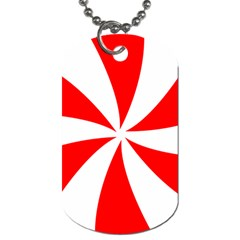 Candy Red White Peppermint Pinwheel Red White Dog Tag (one Side) by Alisyart