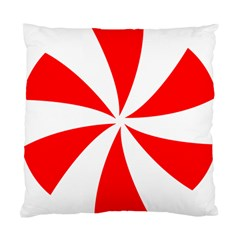 Candy Red White Peppermint Pinwheel Red White Standard Cushion Case (two Sides) by Alisyart