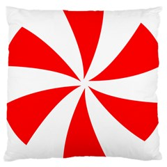 Candy Red White Peppermint Pinwheel Red White Large Cushion Case (one Side)