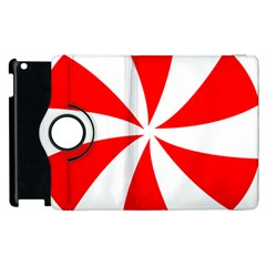 Candy Red White Peppermint Pinwheel Red White Apple Ipad 2 Flip 360 Case by Alisyart