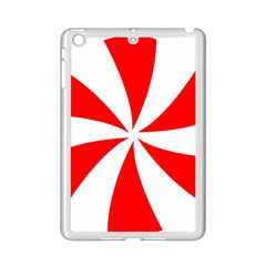 Candy Red White Peppermint Pinwheel Red White Ipad Mini 2 Enamel Coated Cases
