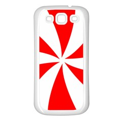 Candy Red White Peppermint Pinwheel Red White Samsung Galaxy S3 Back Case (white) by Alisyart