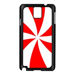 Candy Red White Peppermint Pinwheel Red White Samsung Galaxy Note 3 N9005 Case (black) by Alisyart