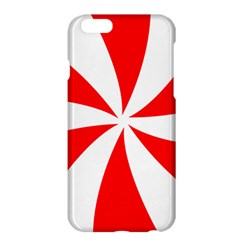 Candy Red White Peppermint Pinwheel Red White Apple Iphone 6 Plus/6s Plus Hardshell Case by Alisyart