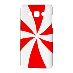 Candy Red White Peppermint Pinwheel Red White Samsung Galaxy A5 Hardshell Case  by Alisyart