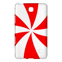 Candy Red White Peppermint Pinwheel Red White Samsung Galaxy Tab 4 (8 ) Hardshell Case  by Alisyart
