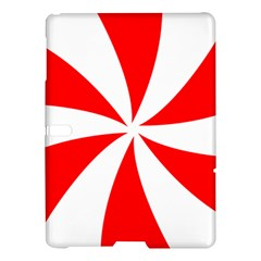 Candy Red White Peppermint Pinwheel Red White Samsung Galaxy Tab S (10 5 ) Hardshell Case