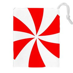 Candy Red White Peppermint Pinwheel Red White Drawstring Pouches (xxl)