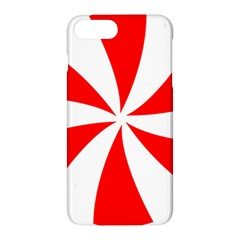 Candy Red White Peppermint Pinwheel Red White Apple Iphone 7 Plus Hardshell Case by Alisyart
