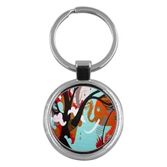 Colorful Graffiti In Amsterdam Key Chains (round)  by Simbadda