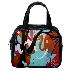 Colorful Graffiti In Amsterdam Classic Handbags (one Side) by Simbadda