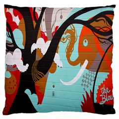 Colorful Graffiti In Amsterdam Large Cushion Case (two Sides) by Simbadda