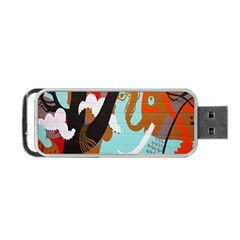 Colorful Graffiti In Amsterdam Portable Usb Flash (one Side) by Simbadda