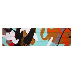 Colorful Graffiti In Amsterdam Satin Scarf (oblong) by Simbadda