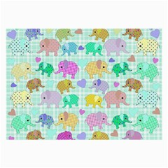 Cute Elephants  Large Glasses Cloth (2 Side)