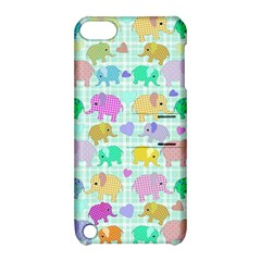 Cute Elephants  Apple Ipod Touch 5 Hardshell Case With Stand by Valentinaart