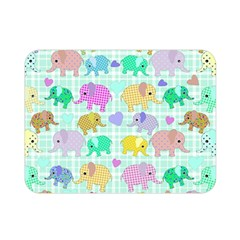 Cute Elephants  Double Sided Flano Blanket (mini)  by Valentinaart