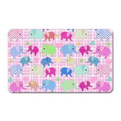 Cute Elephants  Magnet (rectangular) by Valentinaart