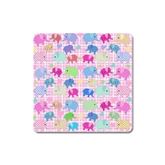 Cute Elephants  Square Magnet by Valentinaart