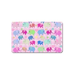 Cute Elephants  Magnet (name Card) by Valentinaart