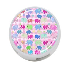 Cute Elephants  4 Port Usb Hub (one Side)