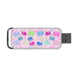 Cute Elephants  Portable Usb Flash (one Side) by Valentinaart