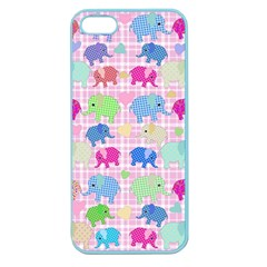 Cute Elephants  Apple Seamless Iphone 5 Case (color) by Valentinaart