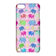 Cute Elephants  Apple Ipod Touch 5 Hardshell Case With Stand