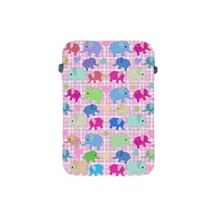 Cute Elephants  Apple Ipad Mini Protective Soft Cases by Valentinaart