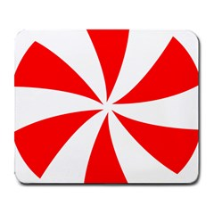 Candy Red White Peppermint Pinwheel Red White Large Mousepads by Alisyart