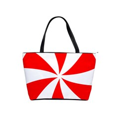 Candy Red White Peppermint Pinwheel Red White Shoulder Handbags by Alisyart