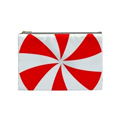 Candy Red White Peppermint Pinwheel Red White Cosmetic Bag (medium)  by Alisyart