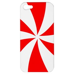 Candy Red White Peppermint Pinwheel Red White Apple Iphone 5 Hardshell Case by Alisyart