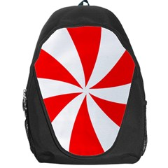 Candy Red White Peppermint Pinwheel Red White Backpack Bag by Alisyart