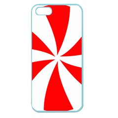 Candy Red White Peppermint Pinwheel Red White Apple Seamless Iphone 5 Case (color)