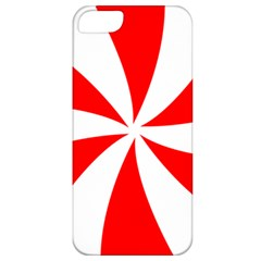 Candy Red White Peppermint Pinwheel Red White Apple Iphone 5 Classic Hardshell Case by Alisyart