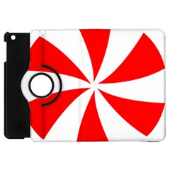 Candy Red White Peppermint Pinwheel Red White Apple Ipad Mini Flip 360 Case by Alisyart