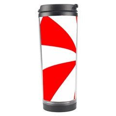 Candy Red White Peppermint Pinwheel Red White Travel Tumbler by Alisyart