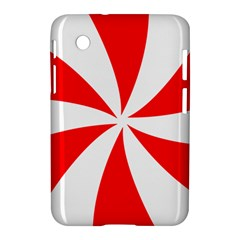 Candy Red White Peppermint Pinwheel Red White Samsung Galaxy Tab 2 (7 ) P3100 Hardshell Case  by Alisyart