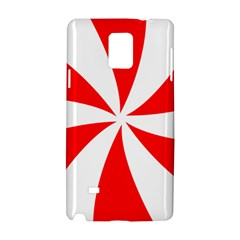 Candy Red White Peppermint Pinwheel Red White Samsung Galaxy Note 4 Hardshell Case by Alisyart