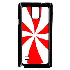 Candy Red White Peppermint Pinwheel Red White Samsung Galaxy Note 4 Case (black)