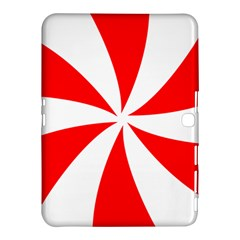 Candy Red White Peppermint Pinwheel Red White Samsung Galaxy Tab 4 (10 1 ) Hardshell Case  by Alisyart