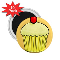 Cake Bread Pie Cerry 2 25  Magnets (10 Pack)  by Alisyart